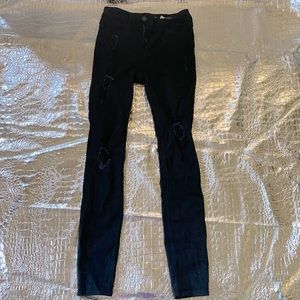 Hollister black jeans with cute holes in legs!